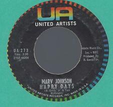 MARV JOHNSON-UNITED ARTIST- HAPPY DAYS/BABY,BABY 45RPM SOUL VG+ COND