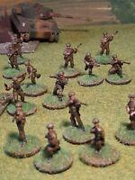 20mm WW2 plastic British Airborne Infantry Assault Group of x 46 Figures