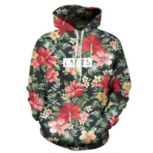 New Men's/Women's Floral Facts 3D Print Sweatshirt Hoodies Tops pullover