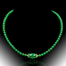 BAILYSBEADS edle gelb Saphir Halskette Collier Kette necklace mit Smaragd
