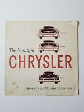 1953 Chrysler Sales Brochure Windsor New Yorker