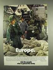 1978 U.S. Army Ad - Europe