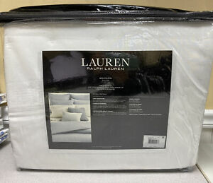 LAUREN Ralph Lauren GRAYDON King Quilt, White, NEW