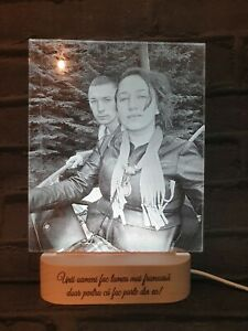 Personalised Photo Night Lamp, Personalised Gift For Couple, Anniversary Gift