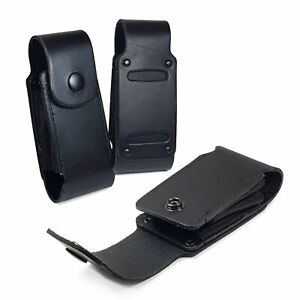 TUFF LUV Leather Case Sheath Pouch for Leatherman Super Tool 300 / Surge - Black