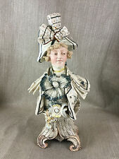 Antique Bust Victorian Pottery Hand Painted Continental China Ornate Decorative