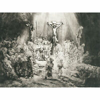 Rembrandt Christ Crucified Between Thieves 3 Crosses Large Canvas Art Print