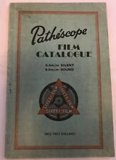 RARE Vintage PATHESCOPE Film catalogo 1952 seconda edizione, 9.5mm Sound silenzioso