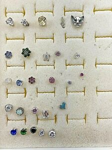 Sterling Silver .925 ~ Assorted ~ Single ~ 26 ~ Earring Studs