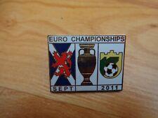 CLASSIC SCOTLAND V LITHUANIA EURO 2012 QUALIFIER MATCHDAY ENAMEL PIN BADGE