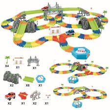 Race Track Toys Car Railway Roller Coaster Electric 240 Pcs DIY Flexible