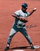 Tommy Lasorda Signed 8X10 Photo Autograph LA Dodgers Throwing Ball Auto PSA/DNA