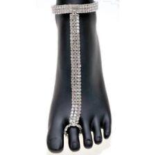 "Kirks Folly ""Barefoot Fairyland"" Bride Crystal Anklet Bracelet & Toe Ring New"