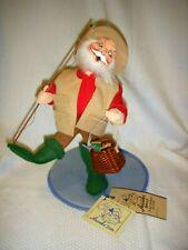 "Annalee Mobilitee Dolls #5394 Hook Line And Fishing Santa 10"" tall"