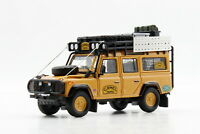1/64 Scale Land Rover Defender 110 Camel Trophy Yellow Diecast Car Toy Gift