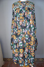 Vintage Jean Varon Paisley Floral Print Dress with Amazing Sleeves, size 9/10