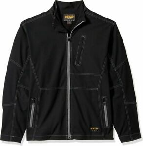 Ariat Men's Big and Tall Canvas Softshell Jacket  Small, Black