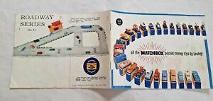 MOKO LESNEY Matchbox Collectors Catalogue  1960