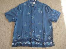 Disney  L  Mickey Minnie Goofy Donald surfboard palms  men's Hawaiian  shirt