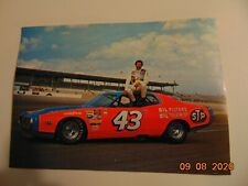 """Vintage Richard Petty with his 1973 Dodge Charger Postcard 7""""x5"""""""