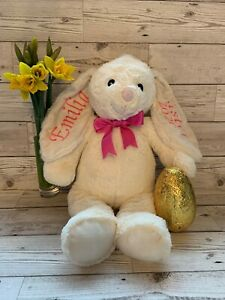 Bunny Rabbit Personalised Embroidered Large 45cm Grey or Cream
