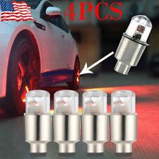 4x Red Car Auto Wheel Tire Tyre Air Valve Stem LED Light Caps Accessories Decor