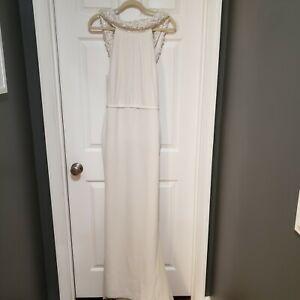 NWT Pronovias Atelier Gown Noemi train white US 6 8 size 40 wedding dress bridal