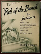 The Pick Of The Bunch For Baritones. Border Ballad, Tommy, Lad! etc. – Pub. 1914