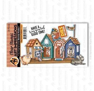 Art Impressions Stamp & Die Set ~ DOG HOUSE CUBBIES  Puppies, Pets -5101