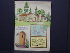 Houses, Homes, American Builder c.1927, One Double Sided Print #16
