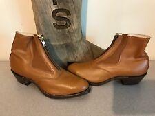 NEW A.M. Kroop & Sons Leather Cuban Heel Jodhpur Boots Men's 9 Women's 11