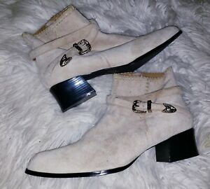 Newport News Ankle Boots Tan Womans Size 10 B Leather READ