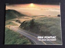 1984/85 Pontiac Sales Brochures Trans Am Firebird Fiero 6000 Grand Prix Grand Am