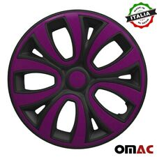 15 Inch Wheel Rim Cover For Toyota Matt Black With Violet Insert 4pcs Set Fits Camry