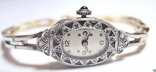 "Antique Deco Diamond Women's Wrist Watch Platinum 18K Yellow Gold 7"" 27.5 Grams"
