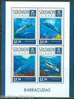 SOLOMON ISLANDS 2014 BARRACUDAS  SHEET MINT NH