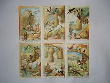 "Liebig Trade Cards - ""Birds Nests - I"" - Full Set of 6 - French/Belgium - VGC"