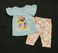Disney Baby Girls 2 Piece Tunic Top Paisley Pants Outfit Size 12 Mo Set