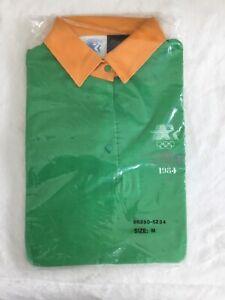 New Rare Unopened 1984 Olympic Los Angeles Uniform Shirt Green Size Medium