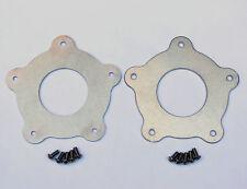 2 Torq Thrust Flat Center Caps, Natural Aluminum, American Racing Wheel, 2-1/4