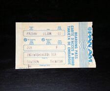 Vintage PAN AM BOARDING PASS Indianapolis - Washington - great Condition RARE!!