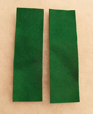 KOREA/VIETNAM ERA ELVIS STYLE COMBAT GREEN FELT PAIR LEADERSHIP TABS