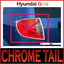 Chrome Tail Light Lamp Cover 2pc For 2006 2010 Hyundai Getz