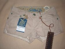 BNWT Stitch's Authentic Tailored denim Chekore size 26 USA beige shorts in EC