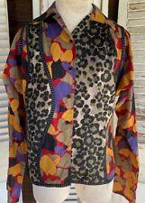 Vintage 80's Koos Van Den Akker Top Blouse Button Down Sz 4