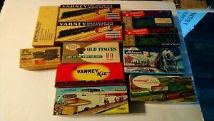 Varney/Ulrich etc HO Train Lot of Rolling Stock Metal/Wood Kits 1950's/1960's