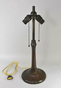 Handel Lamp Base Two Hubbell Sockets Acorn Pulls