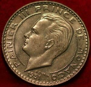 Uncirculated 1951 Monaco 20 Francs Foreign Coin