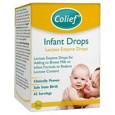 ORIGINALE colief neonato gocce enzima lattasi latte GOCCE 7ml clinicamente dimostrato 42