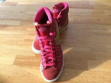 NIKE BLAZER VINTAGE MID RED & GOLD TRAINERS SIZE 5